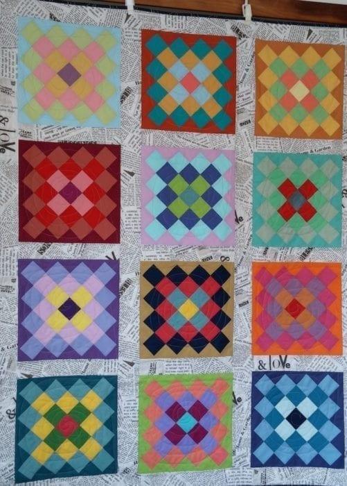 Solid Granny Squares Quilt